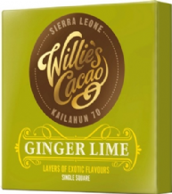Willie's Cacao Ginger Lime Dark Chocolate 50g